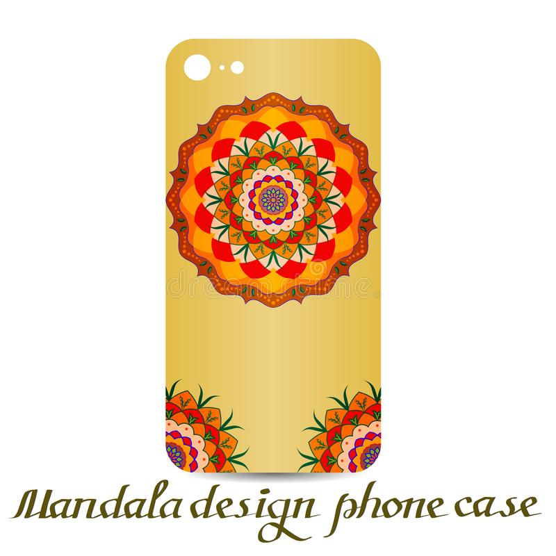 Fall för Mandaladesigntelefon dekorativa element stock illustrationer