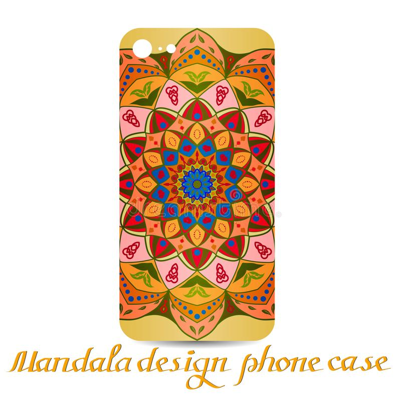 Fall för Mandaladesigntelefon dekorativa element royaltyfri illustrationer
