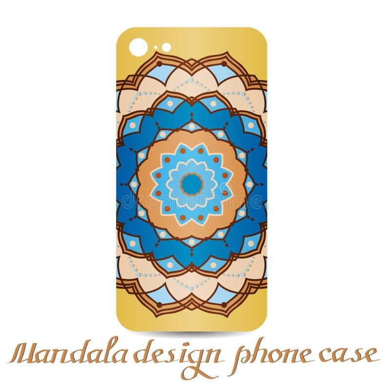 Fall för Mandaladesigntelefon dekorativa element vektor illustrationer