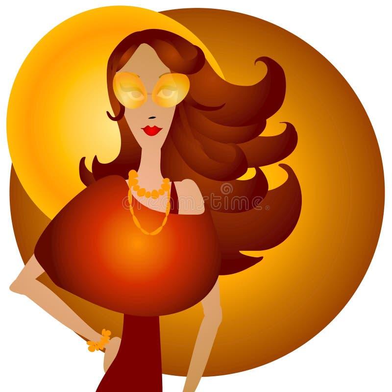 Fall Fashion Caucasian Woman royalty free illustration