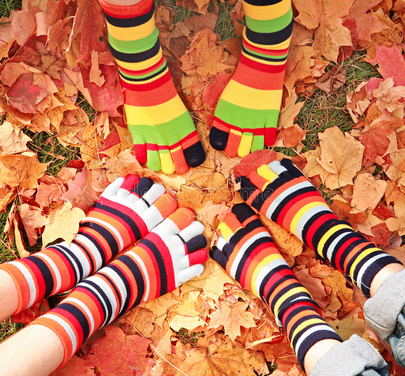 Fall Feet stock photos