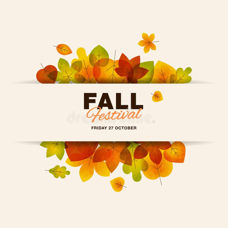 Fall festival template stock illustration