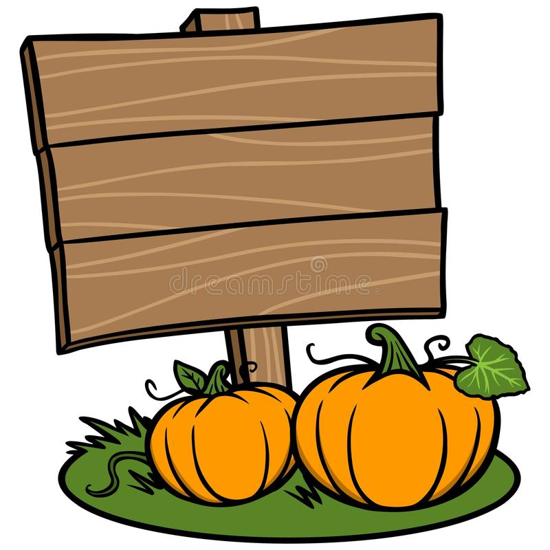 Fall Festival Sign. A vector illustration of a Fall Festival Sign royalty free illustration