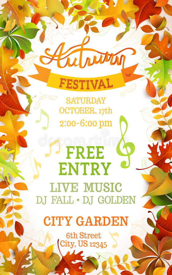Free Fall Festival Template. Stock Images - 59269614