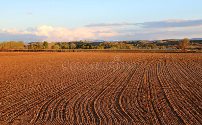 Download Fall Field Prep stock image. Image of aerate, clouds - 86066981
