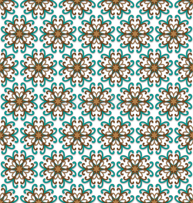 Fall floral pattern royalty free illustration
