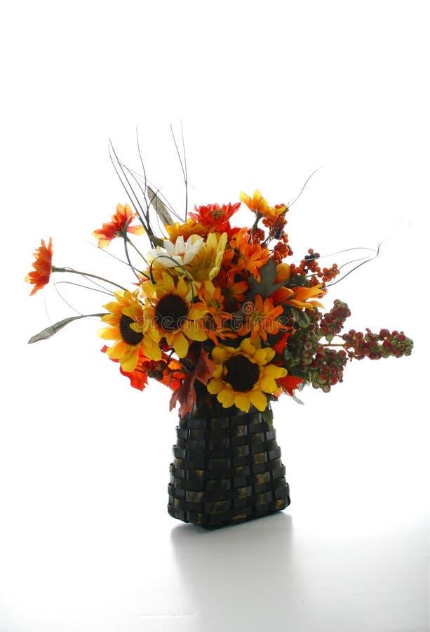 Fall Flower Arrangement. In a Basket stock photos