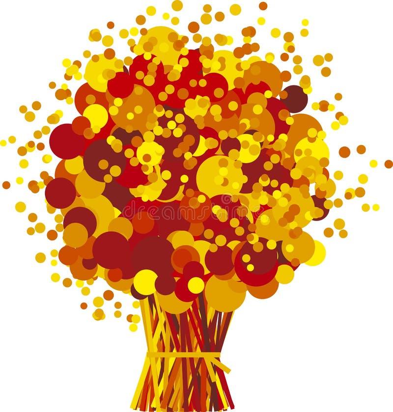 Fall flowers vector illustration
