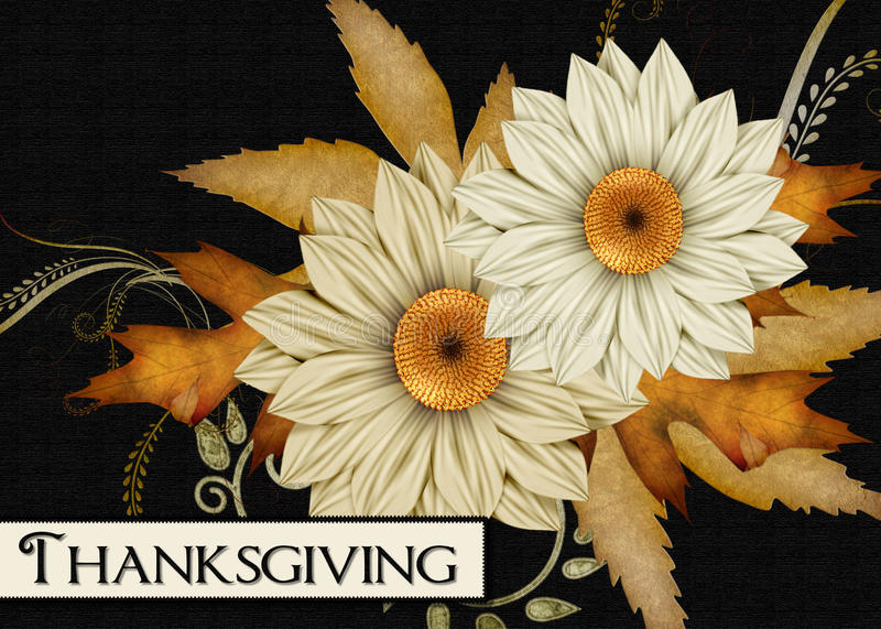Fall Flowers Thanksgiving Card. This elegant thanksgiving themed background can be used for printing or web use