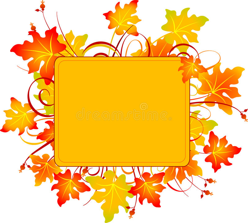 Download Fall frame stock vector. Image of painting, note, creative - 11025849