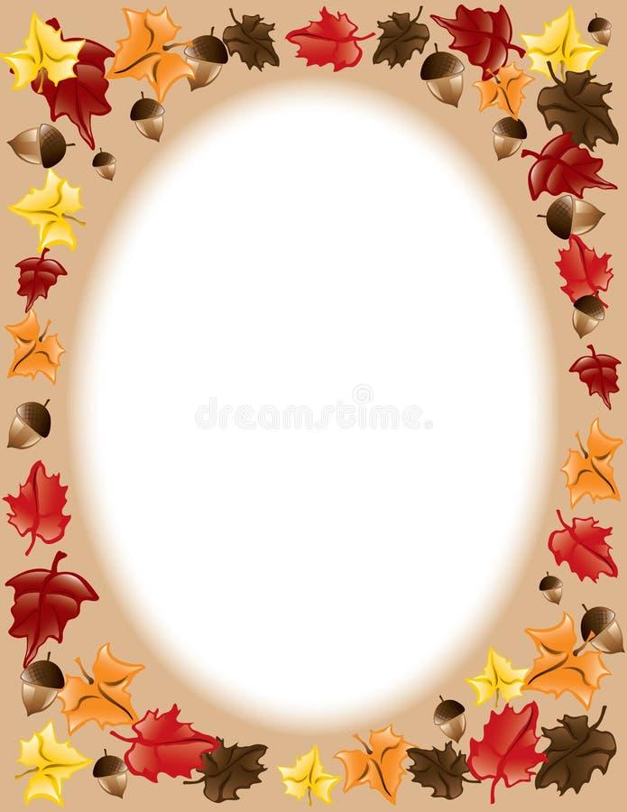 fall frame leaves thanksgiving бесплатная иллюстрация