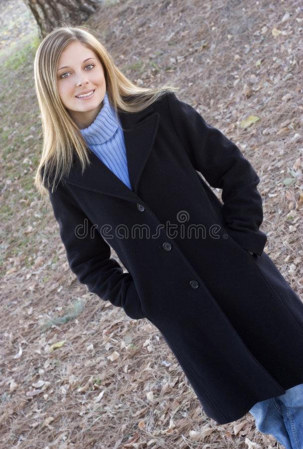 Fall-Frau stockfoto