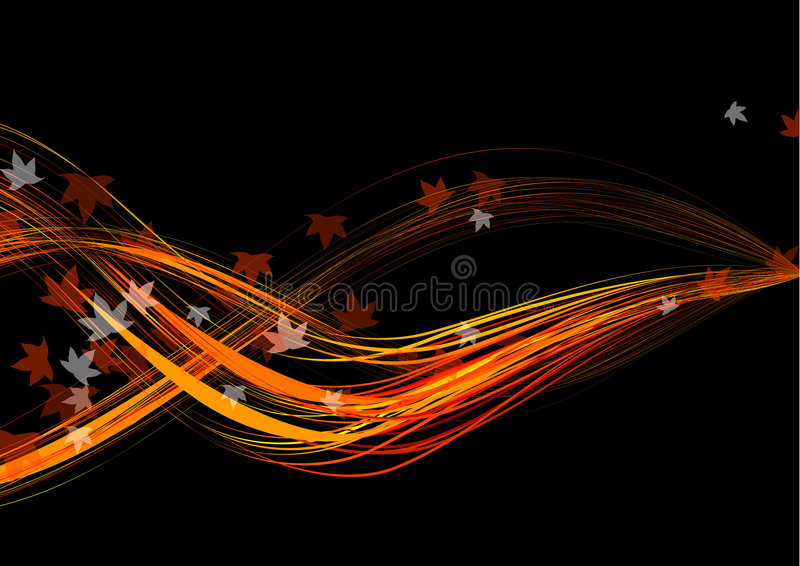 Fall golden flow. Vector Illustration of fall golden flow abstrract background stock illustration