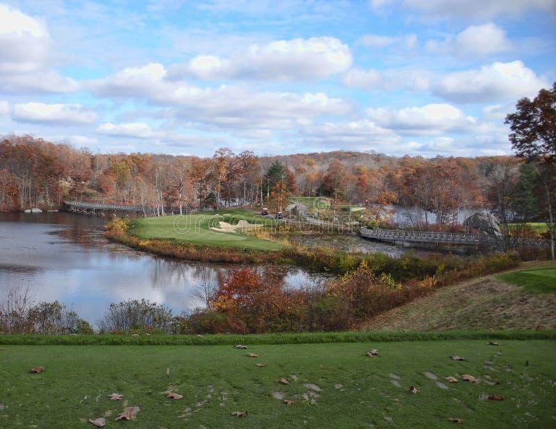 Fall-Golf in Neu-England stockfotos