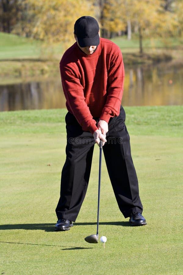 Free Fall Golfer Stock Photography - 3698042