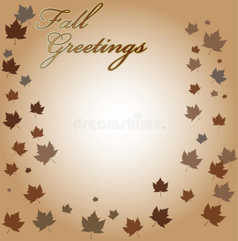 Download Fall Greetings Vector Background Stock Illustration - Image: 44596370