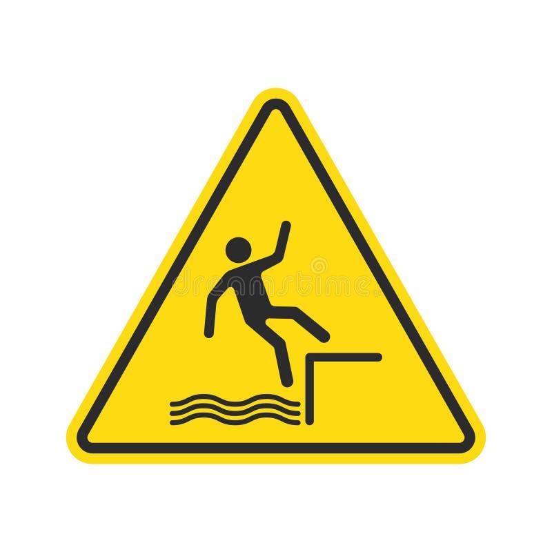 Fall hazard sign. Vector. royalty free illustration