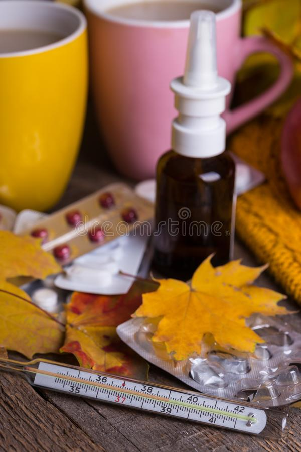 Fall and health care royalty free stock photos