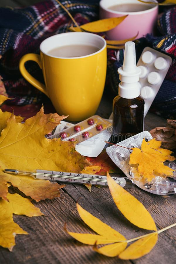 Fall and health care royalty free stock photo