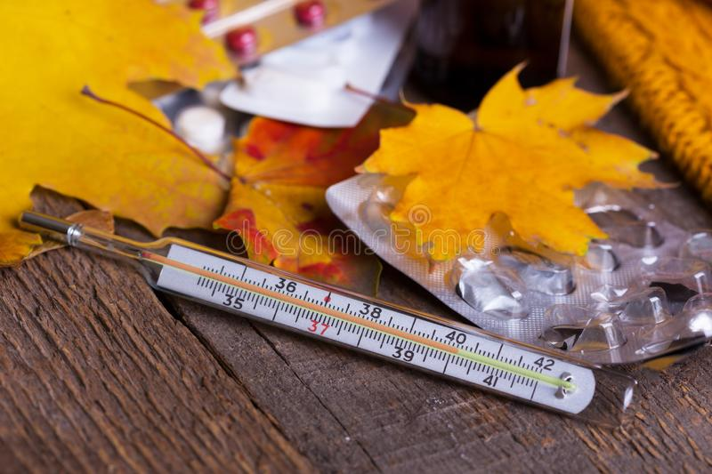 Fall and health care stock image