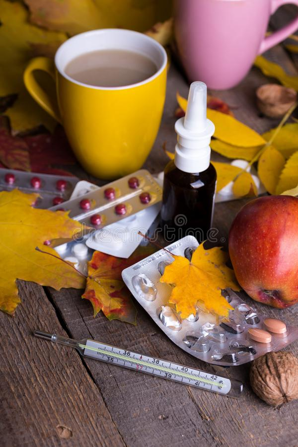 Fall and health care stock photos