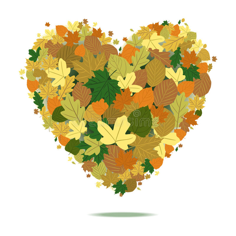 Download Fall Heart stock vector. Illustration of abstract, leaves - 26934893