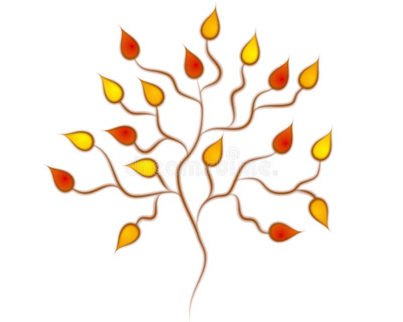 Fall-Herbst-Baum-Klipp-Kunst stock abbildung