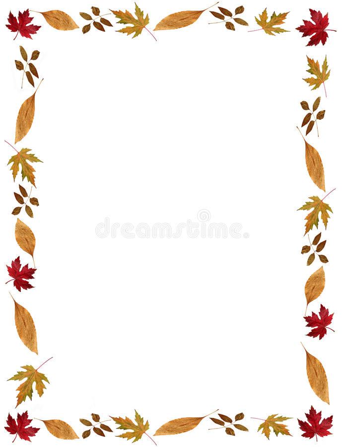 Free Fall Holidays Leafy Frame Or Border Stock Images - 11882824