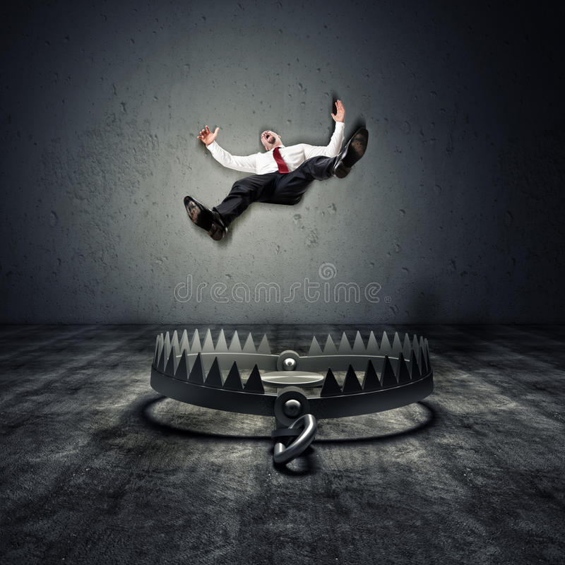Free Fall In A Trap Royalty Free Stock Image - 66036916