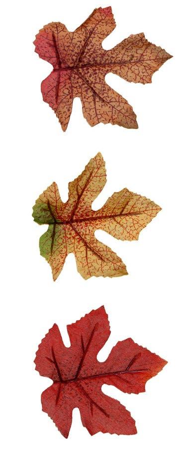 Fall: Künstliche Blätter lizenzfreie stockfotos