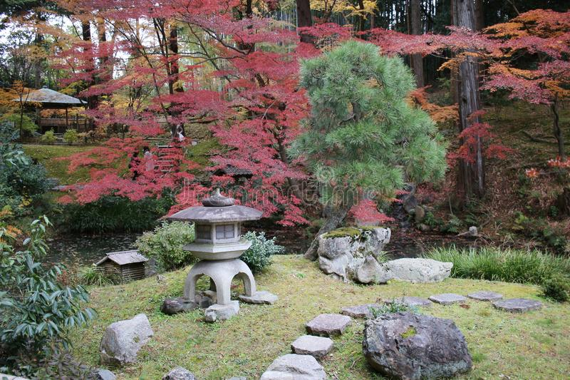 The Autam garden in Konkai Komyoji Temple. Fall in Konkai Komyoji Temple position Residents royalty free stock photography