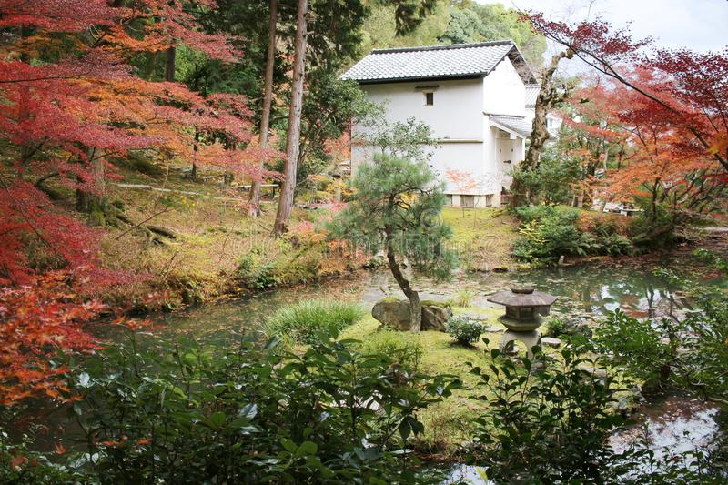 The Autam garden in Konkai Komyoji Temple. Fall in Konkai Komyoji Temple position Residents stock photos