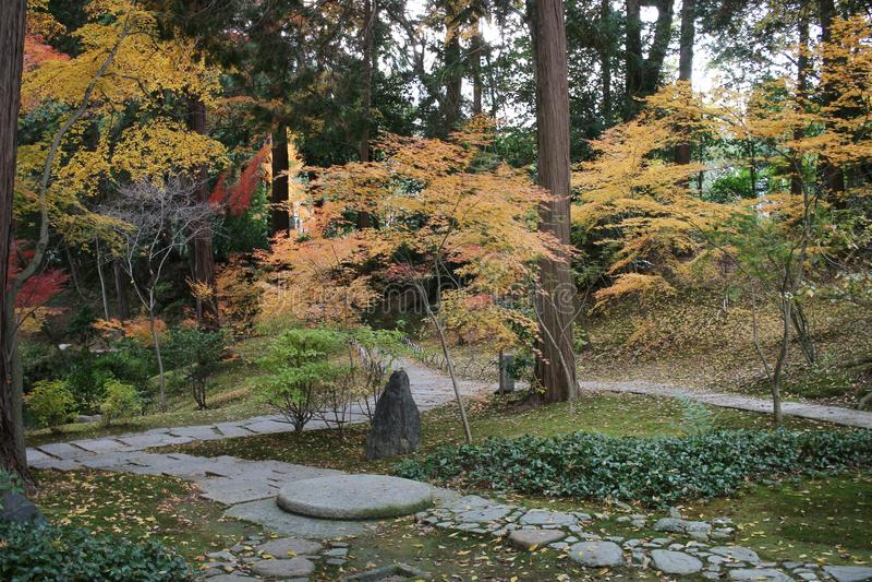 The Autam garden in Konkai Komyoji Temple. Fall in Konkai Komyoji Temple position Residents royalty free stock images