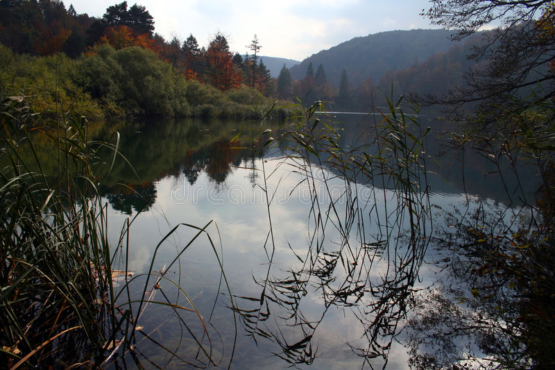 Download Fall lake stock image. Image of reflection, landscape, plitvice - 302343