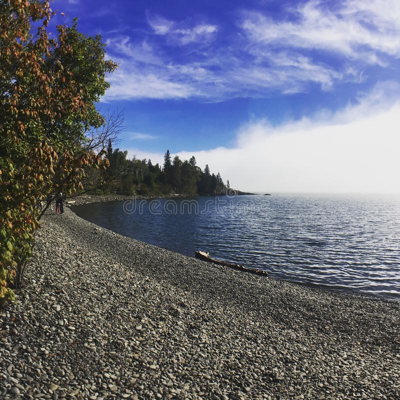 Fall on Lake Superior royalty free stock photography