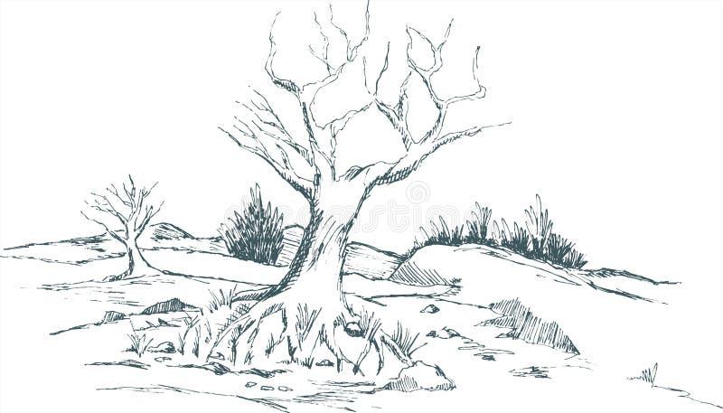Fall Landscape royalty free illustration