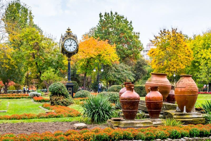 Fall Landscape. In Cismigiu Park, Bucharest, Romania royalty free stock photography
