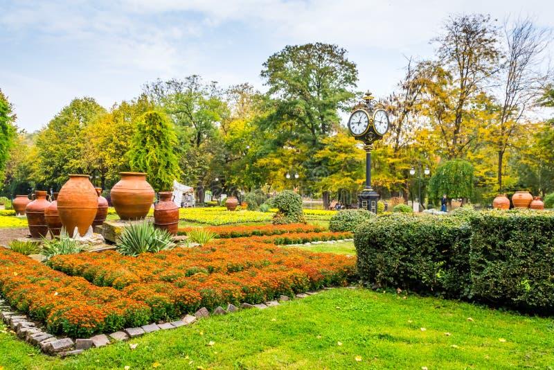 Fall Landscape. In Cismigiu Park, Bucharest, Romania royalty free stock photo