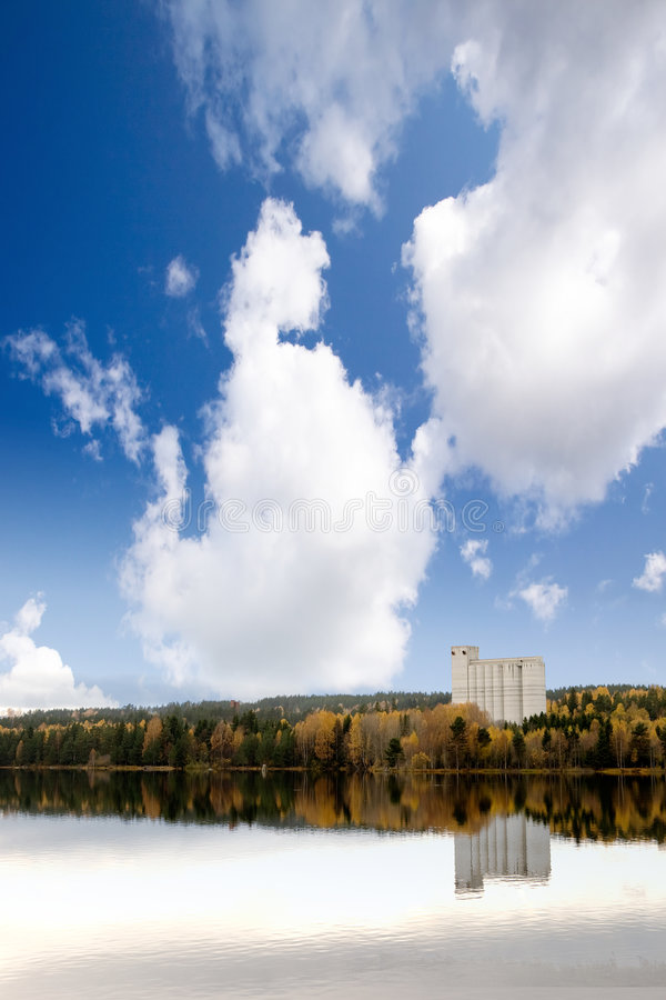 Download Fall Landscape Geithus stock image. Image of lake, geithus - 6984911