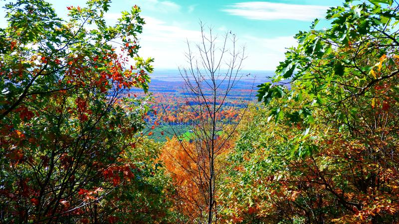 Fall landscape in Quebec royalty free stock photos
