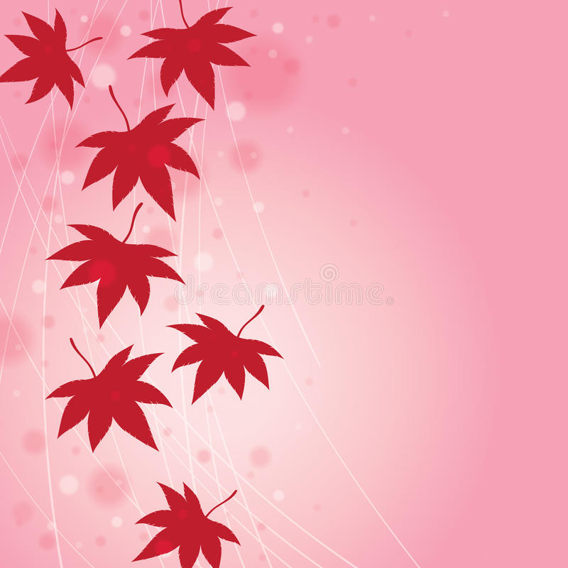 Fall Leaf Background. Autumn Fall background with falling leaves royalty free illustration