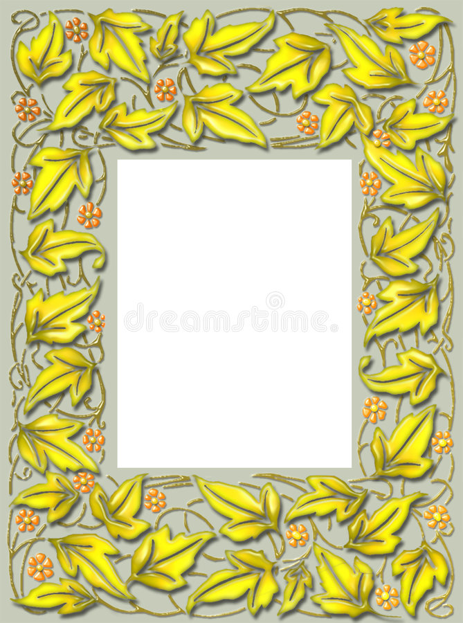 Fall leaf frame royalty free stock photography