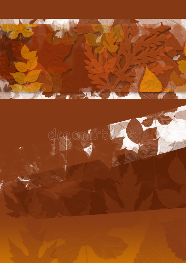 Fall leaf textured background. Fall leaves textured brown background royalty free illustration