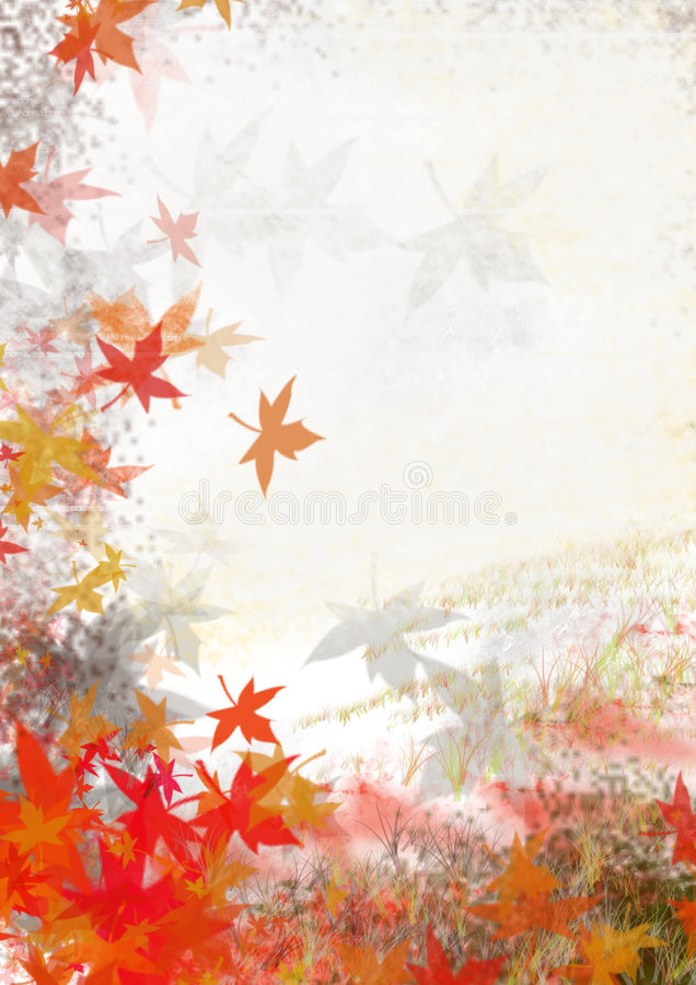 Fall leafs. With some grass texture use for the fall season design background