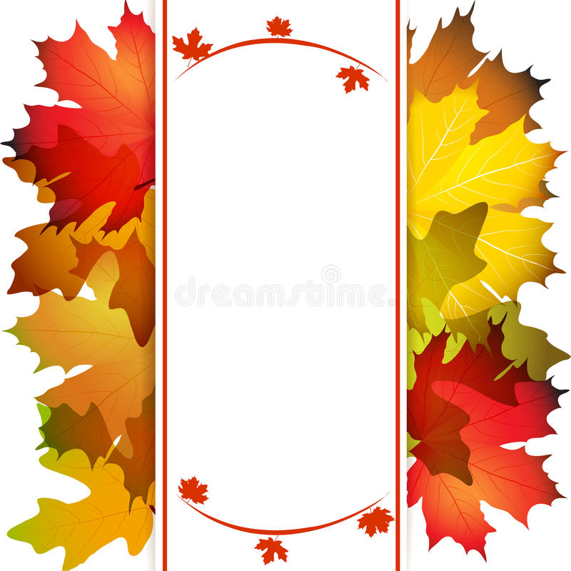 Fall leafs abstract background vector illustration