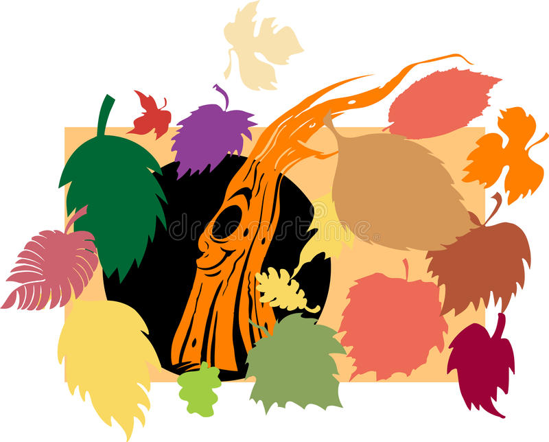 Fall leaves. Fall leaves isolated on white royalty free illustration