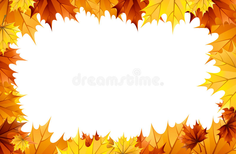 Download Fall leaves stock illustration. Image of empty, foliage - 20656914