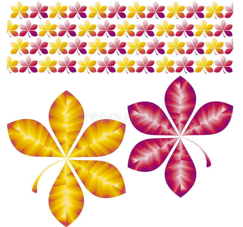 Fall leaves. Vector illustration pattern of fall leaves royalty free illustration