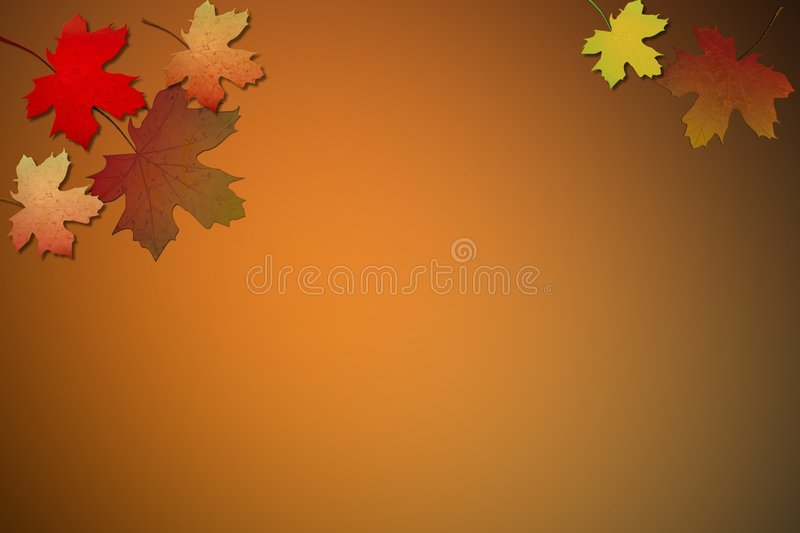 Fall leaves. Background paper with fall color leaves stock illustration