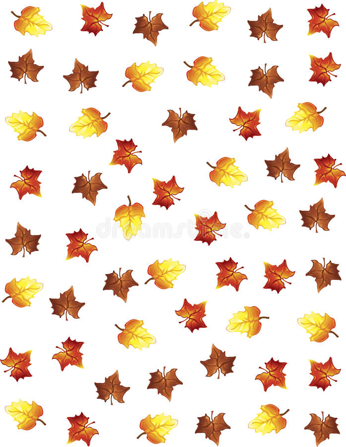 Fall leaves background. Illustration of fall leaves as a backgound stock illustration